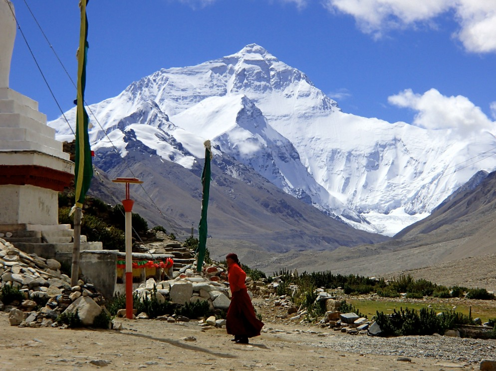 Rongbuk and Mt Everest
